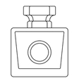 Perfume bottle icon outline style vector image