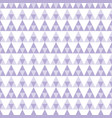 purple geometric triangle seamless pattern vector image vector image