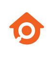 search home logo home inspector icon vector image