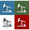 set Oil derrick icon vector image