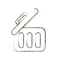 sketch draw trash can web garbage information vector image vector image