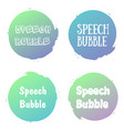 speech bubbles handwritten word with color circle vector image vector image