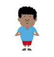 standing young boy kid cartoon male image vector image