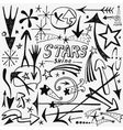 stars and arrows icons vector image vector image