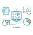 statistics concept icon vector image