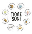 sun please - phrase with breakfast things vector image