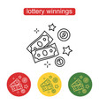 the money icon the concept of a lottery prize vector image vector image