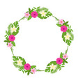 tropical floral wreath frame isolated vector image vector image