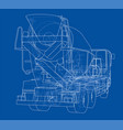 truck mixer sketch vector image