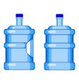 two gallon water bottles with and without handle vector image vector image