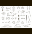various parts and tools vector image vector image