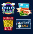 various seasonal sale event tittle vector image vector image