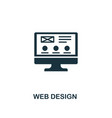 web design icon premium style design from design vector image vector image