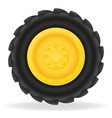 wheel for tractor vector image vector image