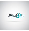 wind label vector image vector image