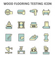 wood flooring material testing icon set design vector image