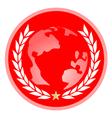 world leader emblem vector image vector image
