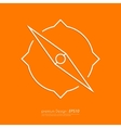 Stock Linear icon compass vector image