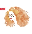 Young woman wearing glasses vector image