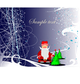0211Chrismas greeting card vector image