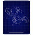 3d quadcopter model on a blue vector image vector image