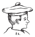 a boy wearing in a hat vintage engraving vector image vector image