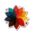abstract geometric flower icon vector image