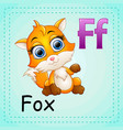 animals alphabet f is for fox vector image