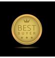 Best buyer label vector image vector image