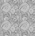 Black and White Curly Waves vector image vector image
