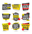black friday sale banner friday vector image vector image