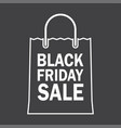 black friday sale design with shopping bag vector image vector image
