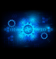 blue digital technology and business concept vector image