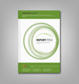 Brochures book or flyer with green abstract vector image
