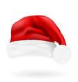 christmas red hat santa claus vector image vector image