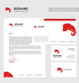 company brochure design with red theme and vector image