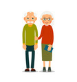 couple older people two aged people stand vector image vector image