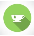 Cup of tea with tea bag vector image