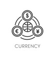 currency and money payment or cash isolated vector image