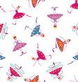 Dancing girls seamless pattern vector image vector image