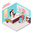 diabetes doctor patient isometric composition vector image