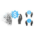 dissolved pixel halftone banking maintenance hands vector image vector image