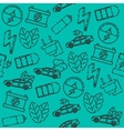 Electric car pattern vector image vector image
