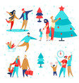family holidays set2 vector image vector image