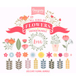 Floral Bundle Icon Set vector image vector image