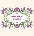 folk gentle floral background-12 vector image vector image