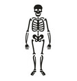 full length skeleton silhouette halloween symbol vector image vector image