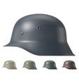 german ww2 military helmet vector image vector image