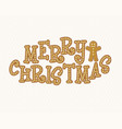 gingerbread font merry christmas christmas vector image