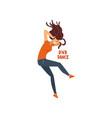 girl dancing drum and bass dance vector image vector image